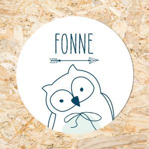 Sticker 40mm baby uiltje jongen