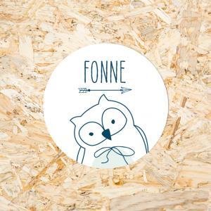 Sticker 30mm baby uiltje jongen