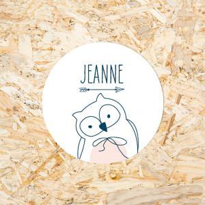 Sticker 30mm baby uiltje meisje