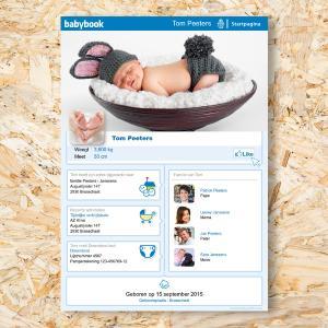 Babybook geboortekaartje
