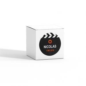 Sticker rond 40mm filmklapper