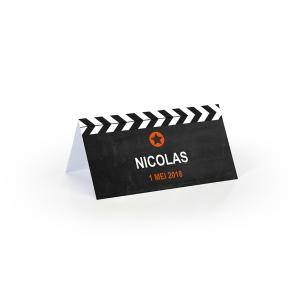 Tafelkaartje filmklapper